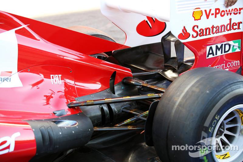 Ferrari exhaust and rear suspension detail