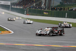 Pace lap, #4 Audi Sport Team North America Audi R18 Ultra: Oliver Jarvis, Marco Bonanomi
