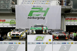 Car podium: Race winner #29 Audi Sport Team Land-Motorsport, Audi R8 LMS: Christopher Mies, Connor De Phillippi, Markus Winkelhock, Kelvin van der Linde, second place #98 Rowe Racing, BMW M6 GT3: Markus Palttala, Nicky Catsburg, Richard Westbrook, Alexander Sims, third place #9 Audi Sport Team WRT, Audi R8 LMS: Nico Müller, Marcel Fässler, Robin Frijns, René Rast