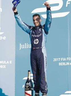 Sébastien Buemi, Renault e.Dams, sur le podium