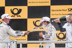 Podium: Maxime Martin, BMW Team RBM, BMW M4 DTM. Bruno Spengler, BMW Team RBM, BMW M4 DTM, Bart Mampaey, BMW Team RBM