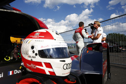 Il casco di Tom Kristensens sulla sua Audi R18