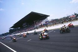 Start zum 125er-Rennen in Sentul 1997