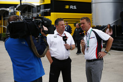Zak Brown, Executive Director, McLaren Technology Group, talks to Craig Slater of Sky