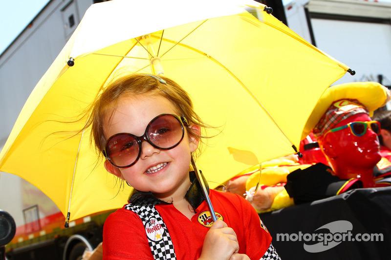 Little Miss Team Sahlen's Umbrella Girl