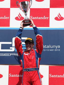 Podium: race winner Luiz Razia