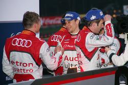 Marcel Fässler, Romain Dumas and Loic Duval