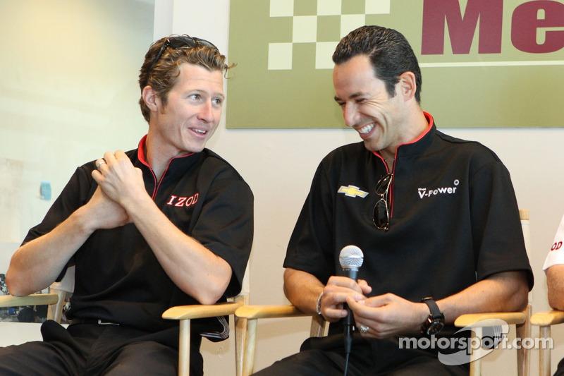 Ryan Briscoe and Helio Ccastroneves, Team Penske Racing
