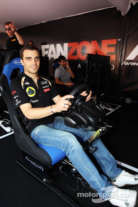 Jérôme d'Ambrosio, Lotus F1 Team derde rijder in fanzone