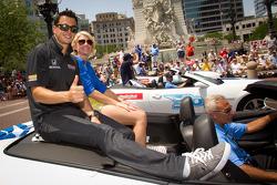 Indy 500 festival parade: Graham Rahal, Service Central Chip Ganassi Racing Honda