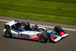 Mario Andretti drives the IndyCar two-seater experience car