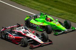 Ryan Briscoe, Team Penske Chevrolet, James Hinchcliffe, Andretti Autosport Chevrolet