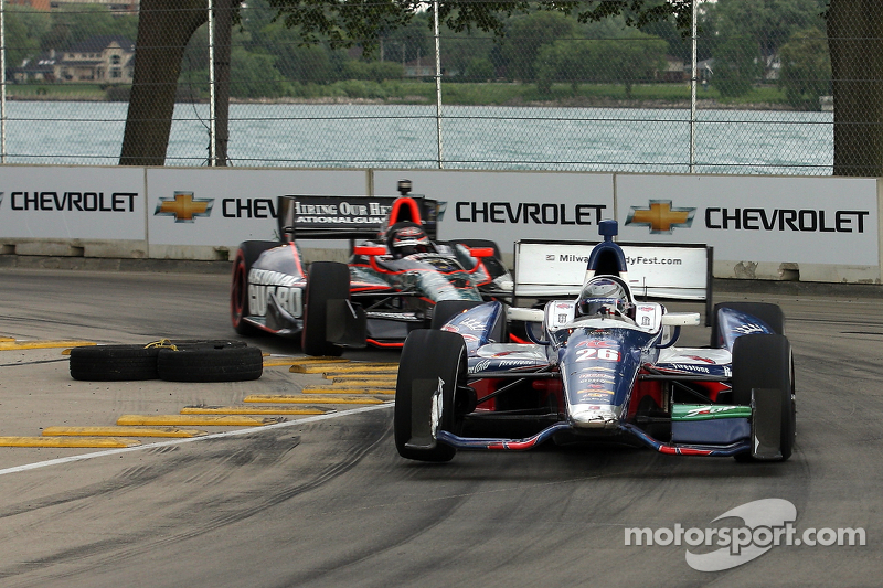 Marco Andretti, Andretti Autosport Chevrolet, J.R. Hildebrand, Panther Racing Chevrolet
