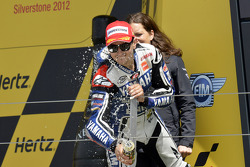 Podio: ganador de la carrera Jorge Lorenzo Yamaha Factory Racing