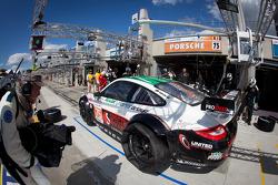 Pit stop for #75 Prospeed Competition Porsche 911 RSR: Abdulaziz Al Faisal, Bret Curtis, Sean Edwards