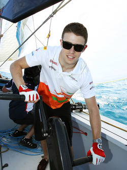 Paul di Resta, Sahara Force India F1 on the Aethra America's Cup Boat