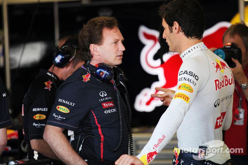 Christian Horner, Red Bull Racing Team Principal with Mark Webber, Red Bull Racing