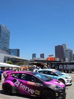 Rally Cross cars ready to go