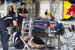Red Bull Racing RB8 being prepared