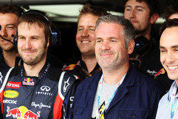 Chris Moyles, Radio 1 DJ with the Red Bull Racing team
