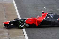 Timo Glock, Marussia F1 Team stops in qualifying