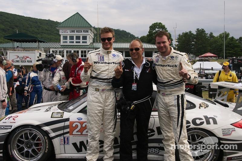 GTC winnaars #22 Alex Job Racing Porsche 911 GT3 Cup: Cooper MacNeil, Leh Keen