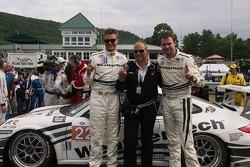 GTC winners #22 Alex Job Racing Porsche 911 GT3 Cup: Cooper MacNeil, Leh Keen