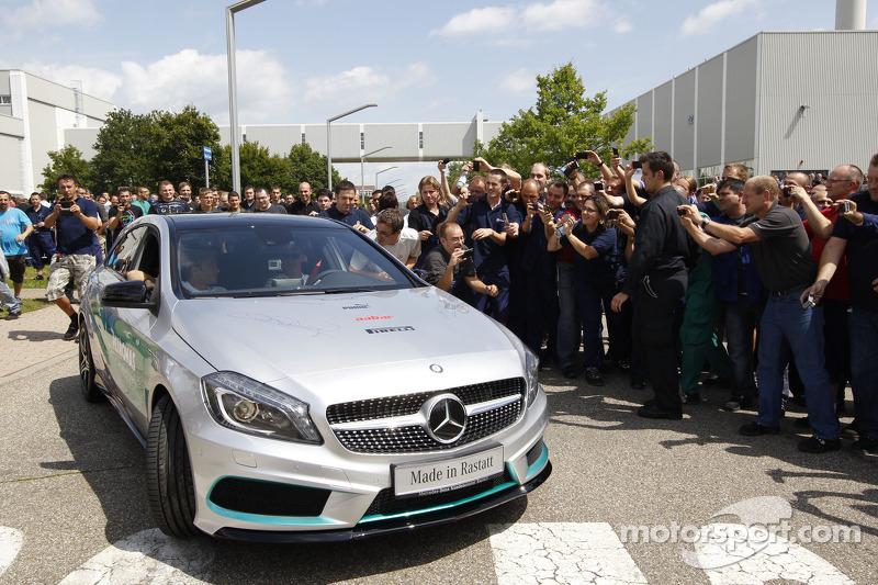 Michael Schumacher and Nico Rosberg, Mercedes AMG F1