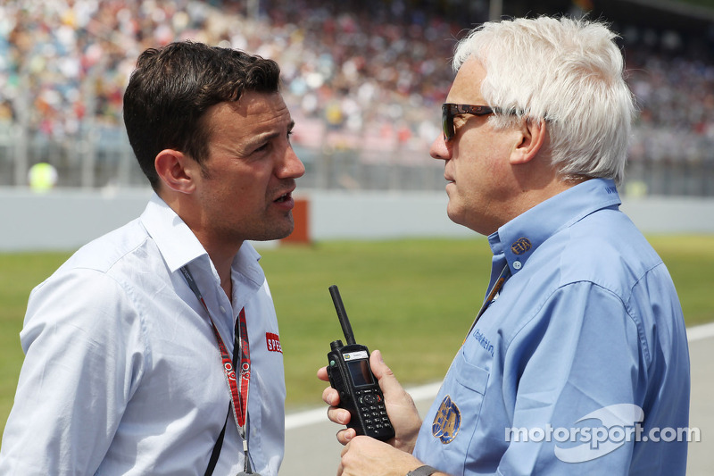 Charlie Whiting Gallery: Will Buxton, Speed TV Presenter And Charlie Whiting, FIA
