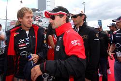 Sebastian Vettel, Red Bull Racing y Timo Glock, Marussia F1 Team