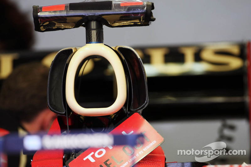 Lotus F1 Team engine cover detail