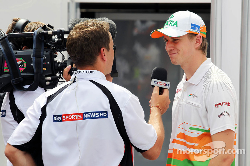 Nico Hulkenberg, Sahara Force India F1 interviewed by Sky Sports News