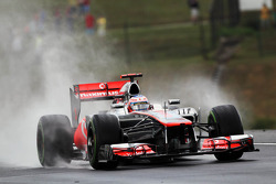 Jenson Button, McLaren in de regen