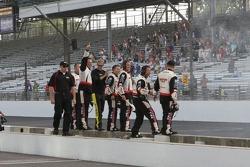 Brad Keselowski's crew celebrates