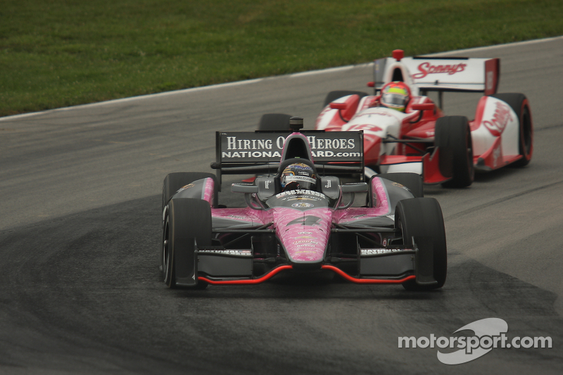 J.R. Hildebrand, Panther Racing Chevrolet Justin Wilson, Dale Coyne Racing Honda