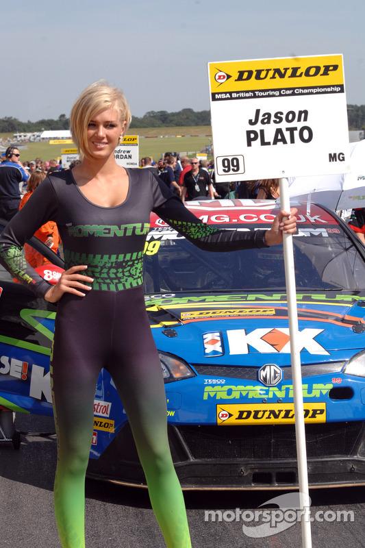 MG KX Momentum Racing Grid Girl at Snetterton