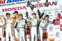 GT300 podium: third place Manabu Orido, Takayuki Aoki and Keita Sawa