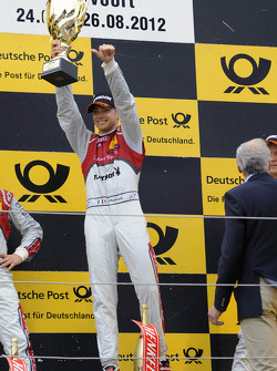 Podium: race winner Edoardo Mortara, Audi Sport Team Rosberg