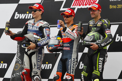 Podium: race winner Dani Pedrosa, Repsol Honda Team, second place Jorge Lorenzo, Yamaha Factory Racing, third place Cal Crutchlow, Yamaha Tech 3