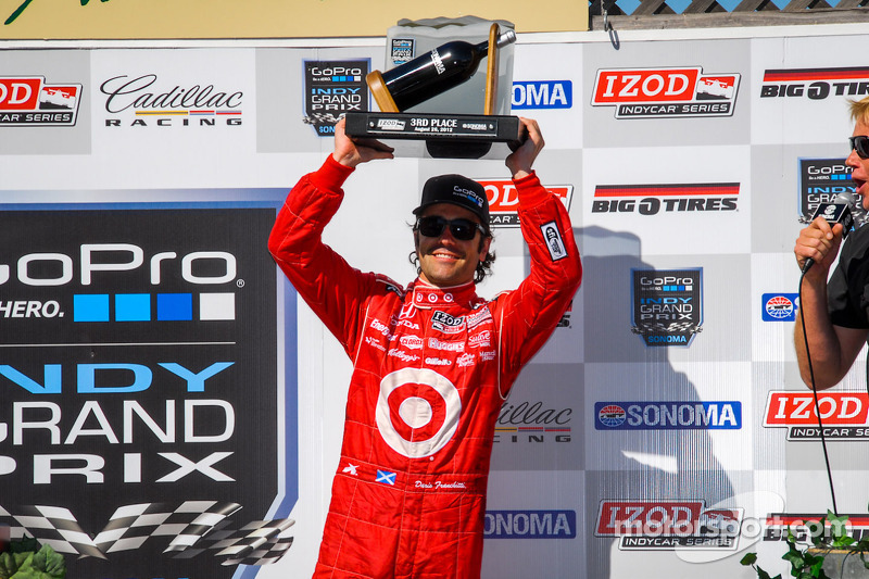 Victory lane: third place Dario Franchitti