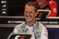 Michael Schumacher, Mercedes AMG F1 in the FIA Press Conference