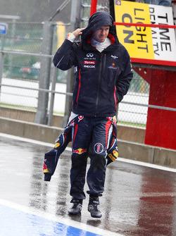 Sebastian Vettel, Red Bull Racing in de pitlane