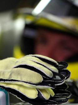 Handschoenen van Nico Rosberg, Mercedes GP