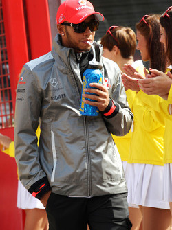 Lewis Hamilton, McLaren on the drivers parade