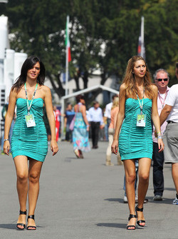 Paddock security girls