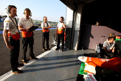 Sahara Force India Formula One Team engineers