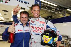 Polesitters Nicolas Lapierre and Alexander Wurz celebrate