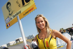 Grid girl of Adrien Tambay, Audi Sport Team Abt Audi A5 DTM