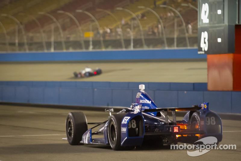 Alex Tagliani, Team Barracuda - BHA Honda on pitlane with trouble