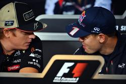 Kimi Raikkonen, Lotus F1 Team and Sebastian Vettel, Red Bull Racing in the FIA Press Conference